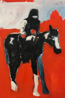 Centaur 3, Oil on Canvas,