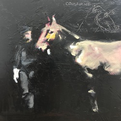 Comanche (black study), Oil on Panel,
