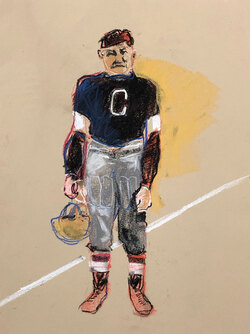 Jim Thorpe, Pastel on Paper,